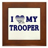 Love My Trooper Framed Tile