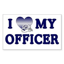 Love My Officer Rectangle Decal