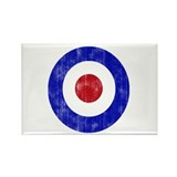 Sixties Mod Emblem Rectangle Magnet