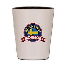 World's Best Mormor Shot Glass