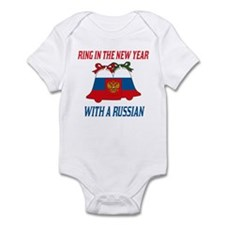 Russian New Years Infant Bodysuit