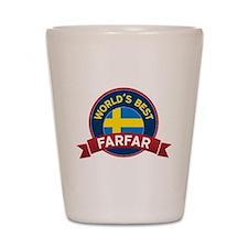 World's Best Farfar Shot Glass