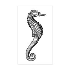 Sea Horse Image Rectangle Decal