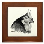 LaFleche Rooster Head Framed Tile
