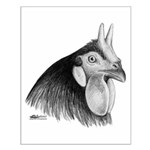 LaFleche Rooster Head Small Poster