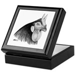 LaFleche Rooster Head Keepsake Box