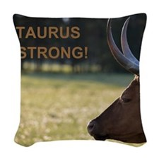 Taurus Strong Woven Throw Pillow