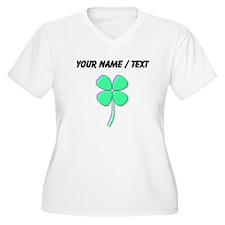 Custom Four Leaf Clover Plus Size T-Shirt