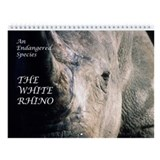 White Rhino Wall Calendar
