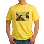 Creation / 2 Dobies Yellow T-Shirt