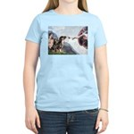 Creation / 2 Dobies Women's Light T-Shirt