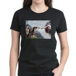 Creation / 2 Dobies Women's Dark T-Shirt