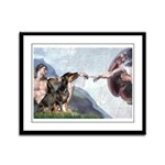 Creation / 2 Dobies Framed Panel Print