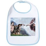 Creation / 2 Dobies Bib