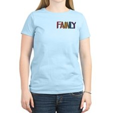 FAMILY RAINBOW STUDDED TEXT/pktT-Shirt