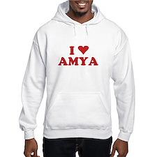 I LOVE AMYA Jumper Hoody