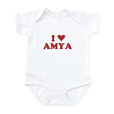 I LOVE AMYA Infant Bodysuit