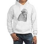 Plymouth Rock Rooster Hooded Sweatshirt