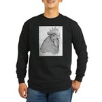 Plymouth Rock Rooster Long Sleeve Dark T-Shirt