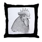 Plymouth Rock Rooster Throw Pillow