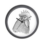 Plymouth Rock Rooster Wall Clock