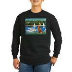 Sailboats / Nova Scotia Long Sleeve Dark T-Shirt