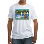 Sailboats / Nova Scotia Fitted T-Shirt
