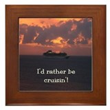 Rather Be Cruisin' Framed Tile