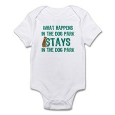 Stays In The Dog Park Infant Bodysuit
