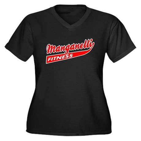 Manganelli Fitness Womens Plus Size V-Neck Dark T