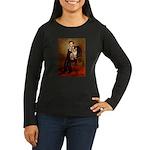 Lincoln's Corgi Women's Long Sleeve Dark T-Shirt
