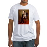 Lincoln's Corgi Fitted T-Shirt