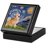 Starry Night Corgi Keepsake Box