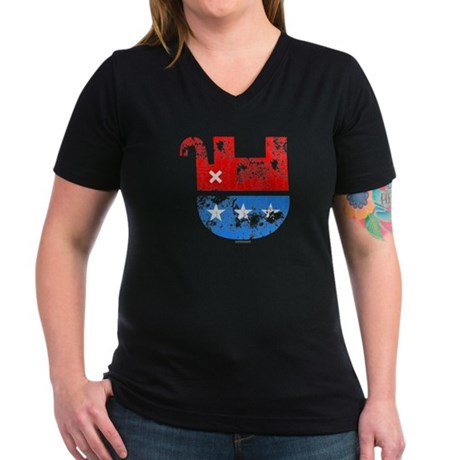 Dead Republican Elephant Womens V-Neck Dark T-Shi