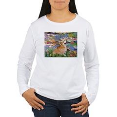 Lilies (2) & Corgi Women's Long Sleeve T-Shirt