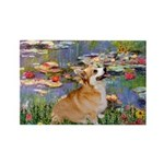 Lilies (2) & Corgi Rectangle Magnet (10 pack)