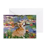 Lilies (2) & Corgi Greeting Cards (Pk of 10)