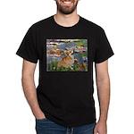 Lilies (2) & Corgi Dark T-Shirt