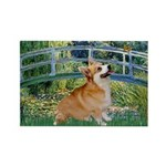 Bridge / Corgi Rectangle Magnet (10 pack)