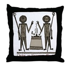 Cute Jesus mary magdalene Throw Pillow