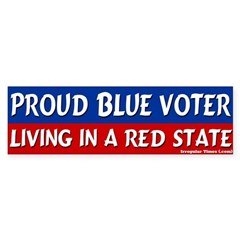 Blue Voter Red State Bumper Sticker