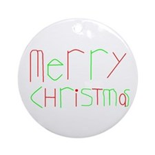 Round Merry Christmas Ornament