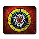 Luther's Rose Mousepad