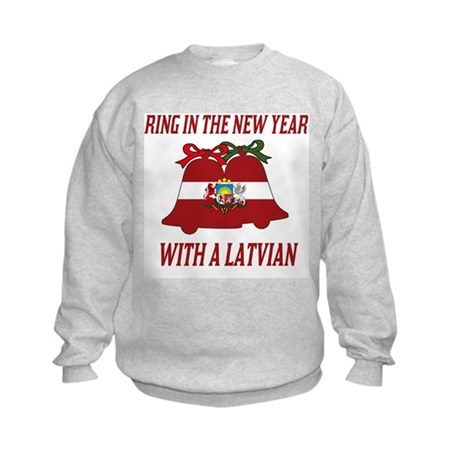 Latvian New Years Kids Sweatshirt