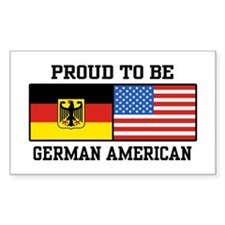 Proud To Be German American Rectangle Decal