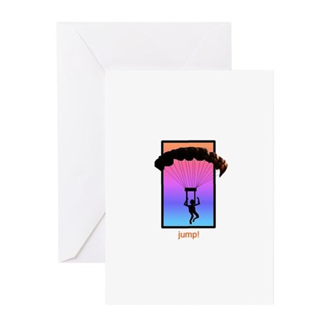 Sunset Skydiver Greeting Cards (Pk of 10)