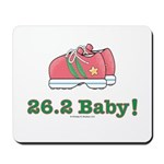 26.2 Baby Marathon Pink Running Shoes Mousepad