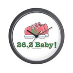 26.2 Baby Marathon Pink Running Shoes Wall Clock