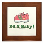 26.2 Baby Marathon Pink Running Shoes Framed Tile