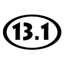 13.1 Miles Oval Decal